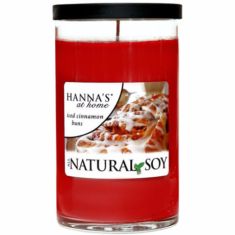 Natural Soy Iced Cinnamon Buns Scented Soy Candle - Candlemart.com