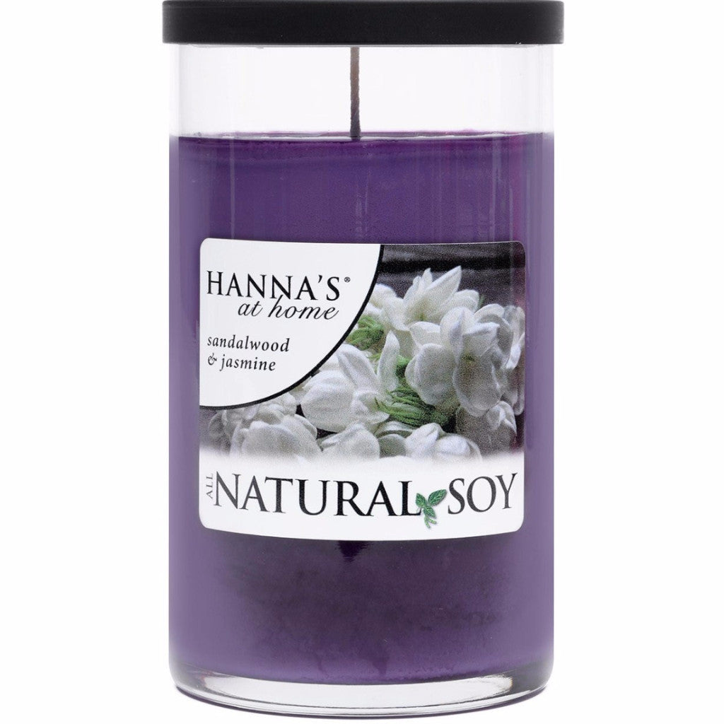 Natural Soy Sandalwood & Jasmine Scented Soy Candle - Candlemart.com - 1