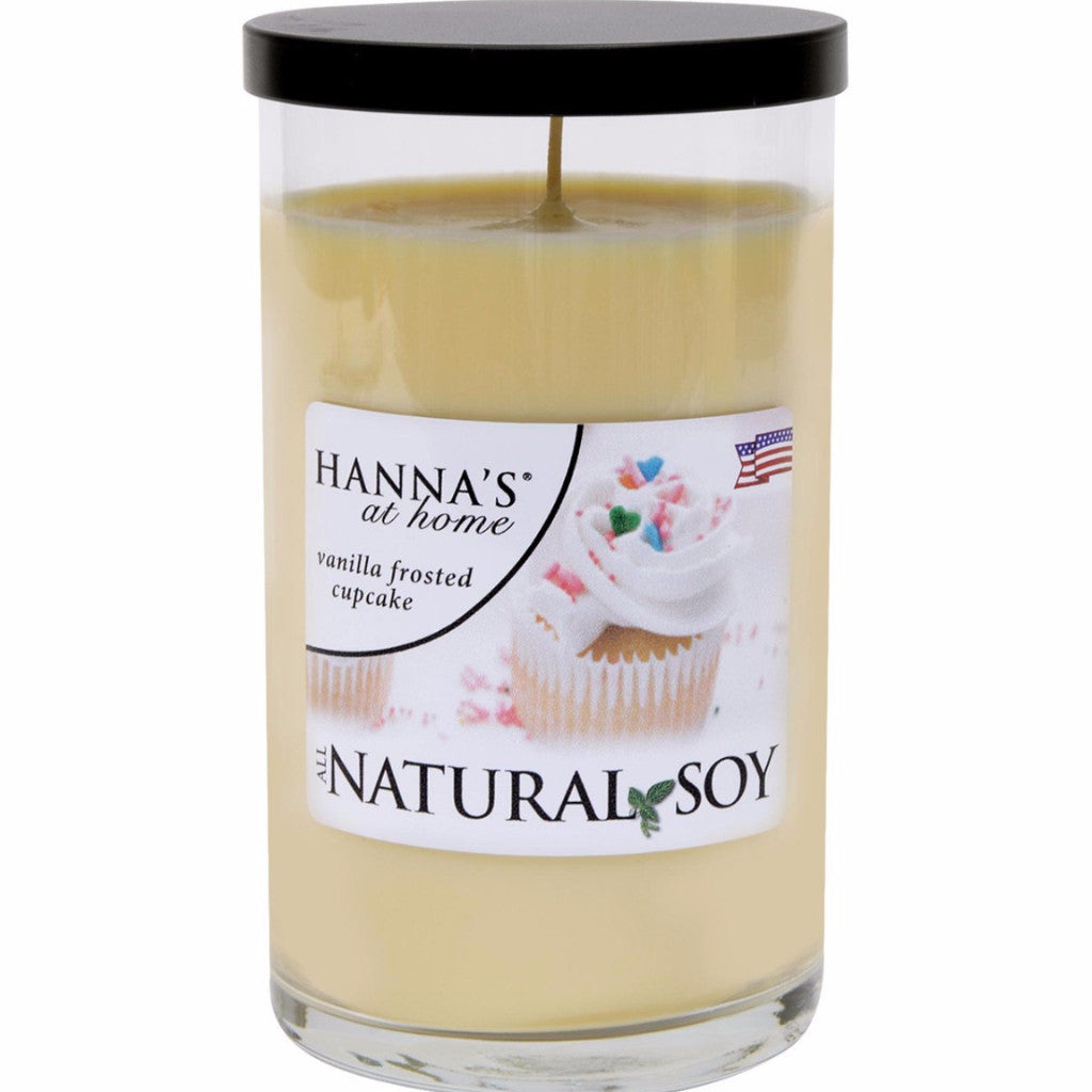 Natural Soy Vanilla Frosted Cupcake Scented Candle - Candlemart.com