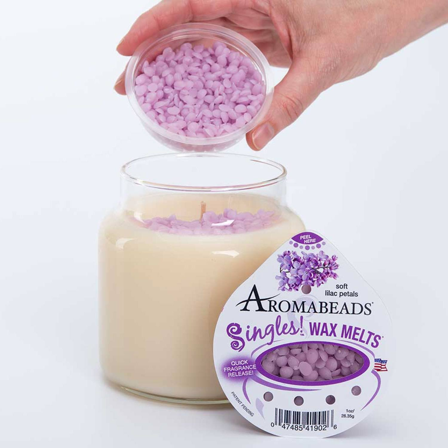 Aromabeads Singles Iced Cinnamon Buns Scented Wax Melts - Candlemart.com - 6