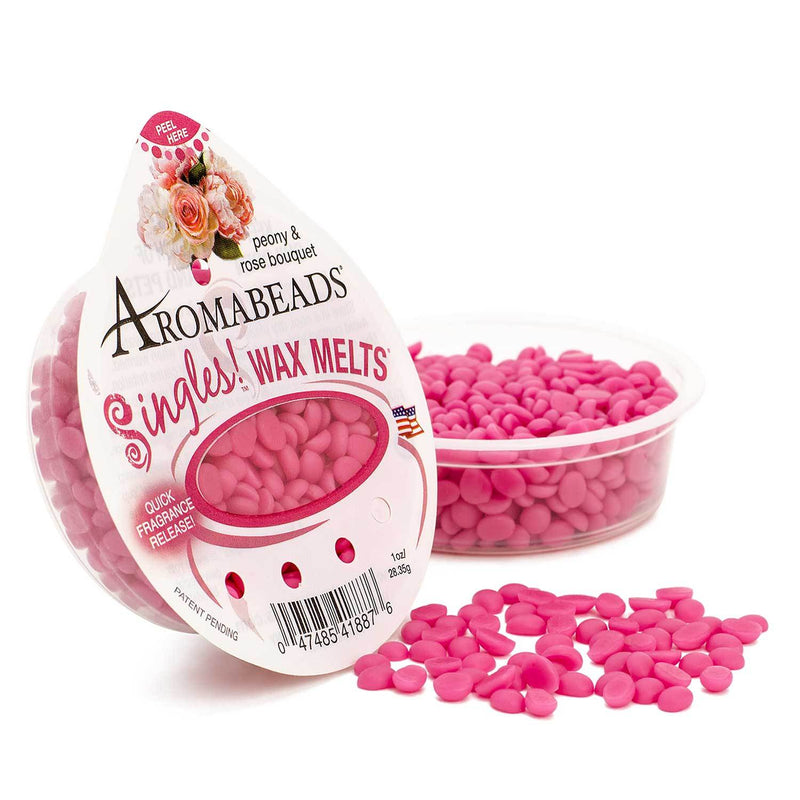 Aromabeads Singles Peony Rose Bouquet Wax Melts 10 Pack