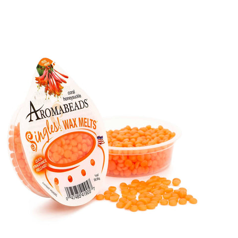 Aromabeads Singles Coral Honeysuckle Scented Wax Melts - Candlemart.com - 1