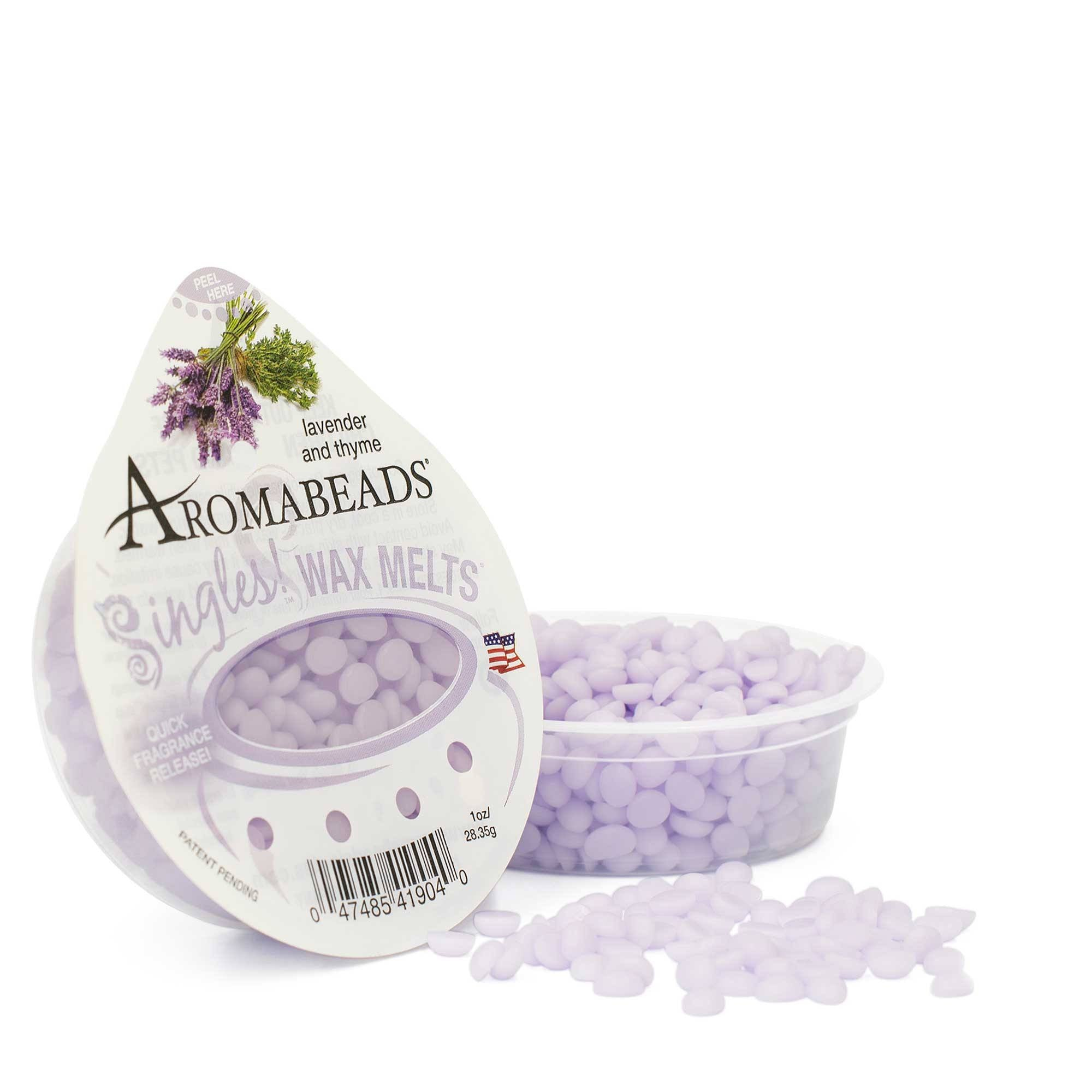 Aromabeads Singles Lavender Thyme Scented Wax Melts - Candlemart.com - 1