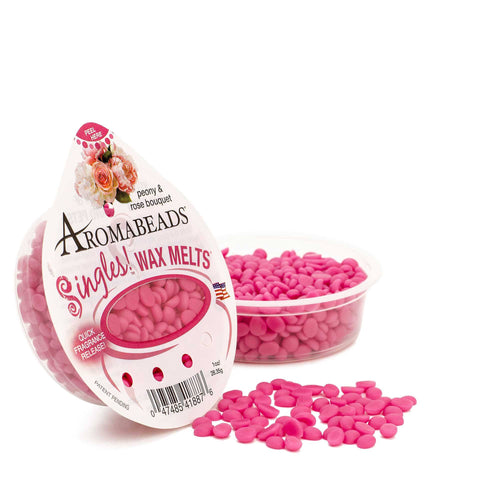 Aromabeads Singles Peony Rose Bouquet Scented Wax Melts - Candlemart.com