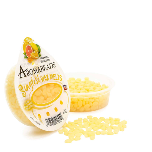 Aromabeads Singles Sparkling Citrus Zest Scented Wax Melts - Candlemart.com