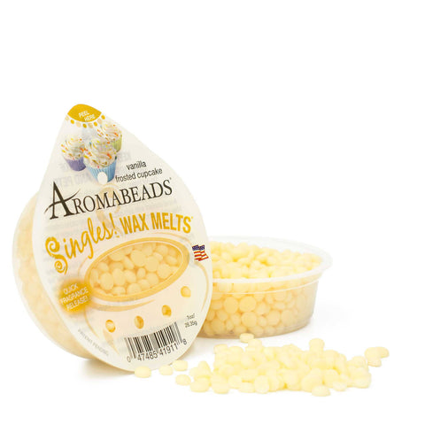 Aromabeads Singles Vanilla Frosted Cupcake Scented Wax Melts - Candlemart.com - 1