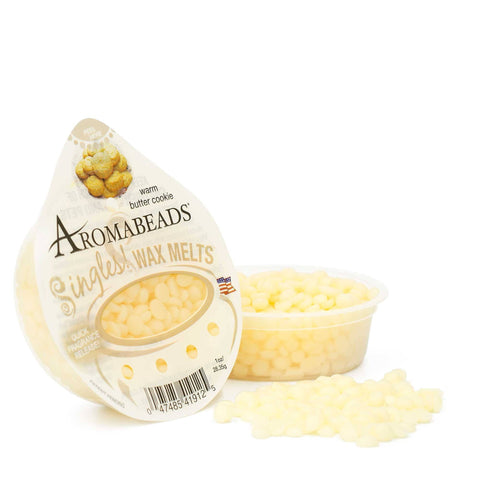 Aromabeads Singles Warm Butter Cookie Wax Melts 10 pack - Candlemart.com
