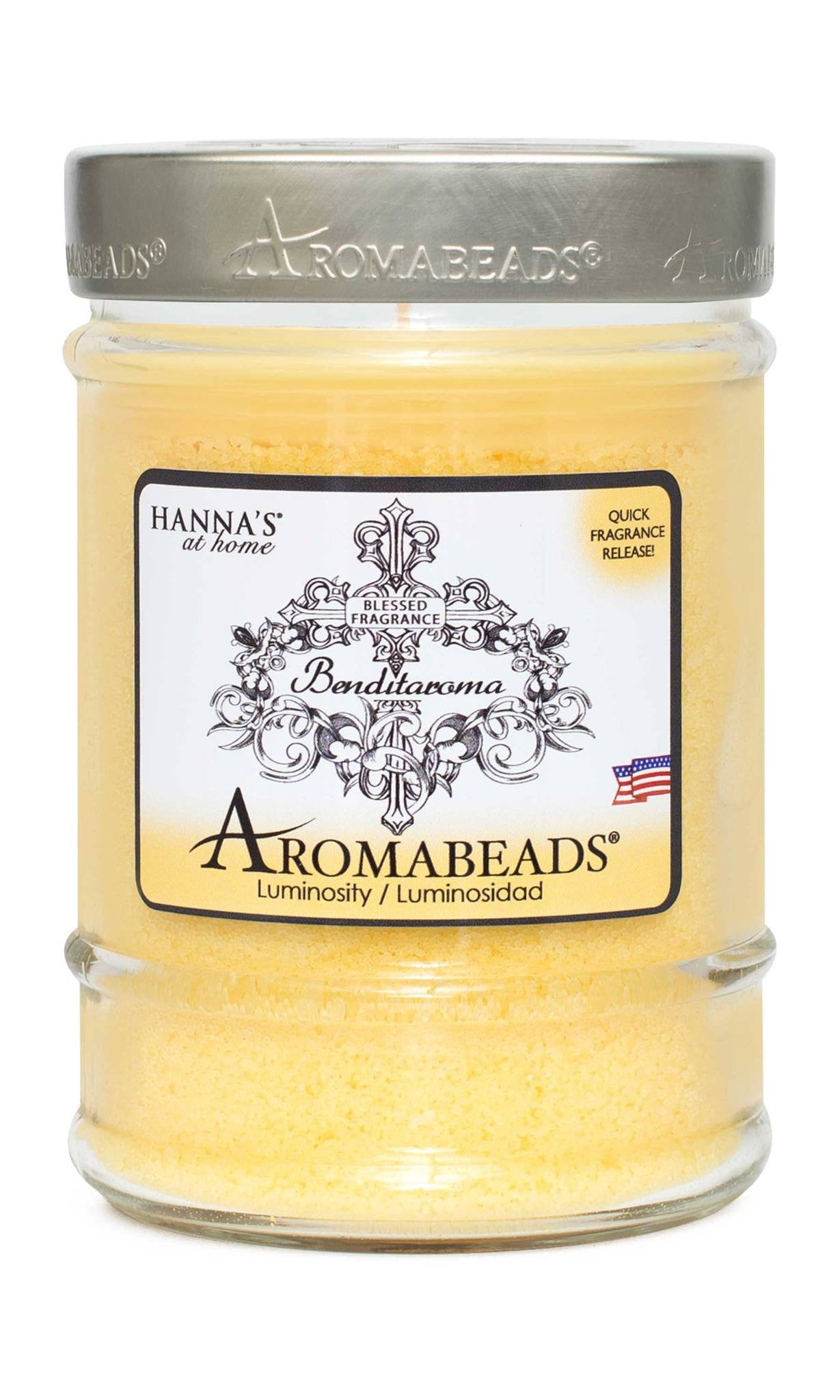 Benditaroma Aromabeads Luminosity Scented Canister Candle - Candlemart.com