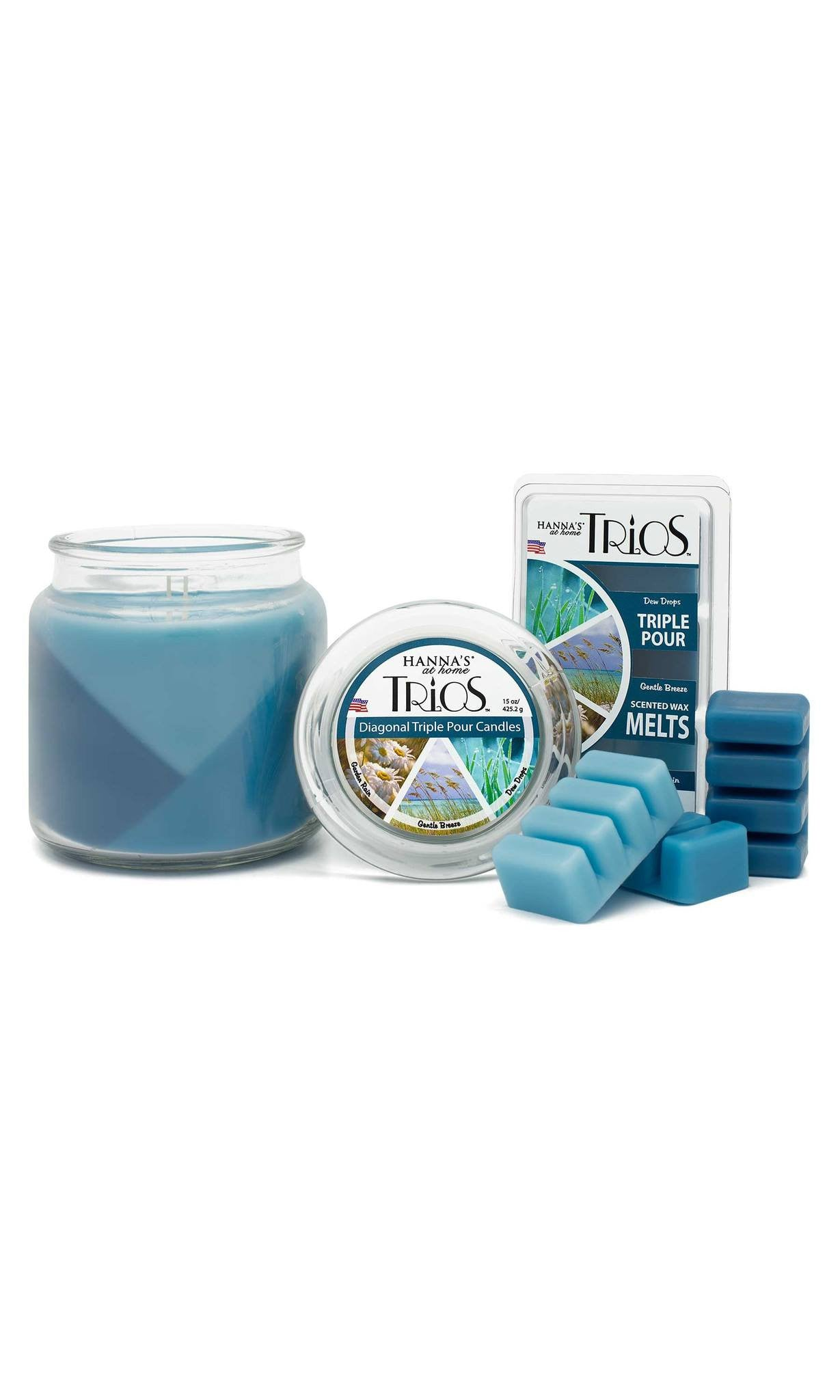 Trios Triple Pour Garden Rain Scented Candle - Candlemart.com