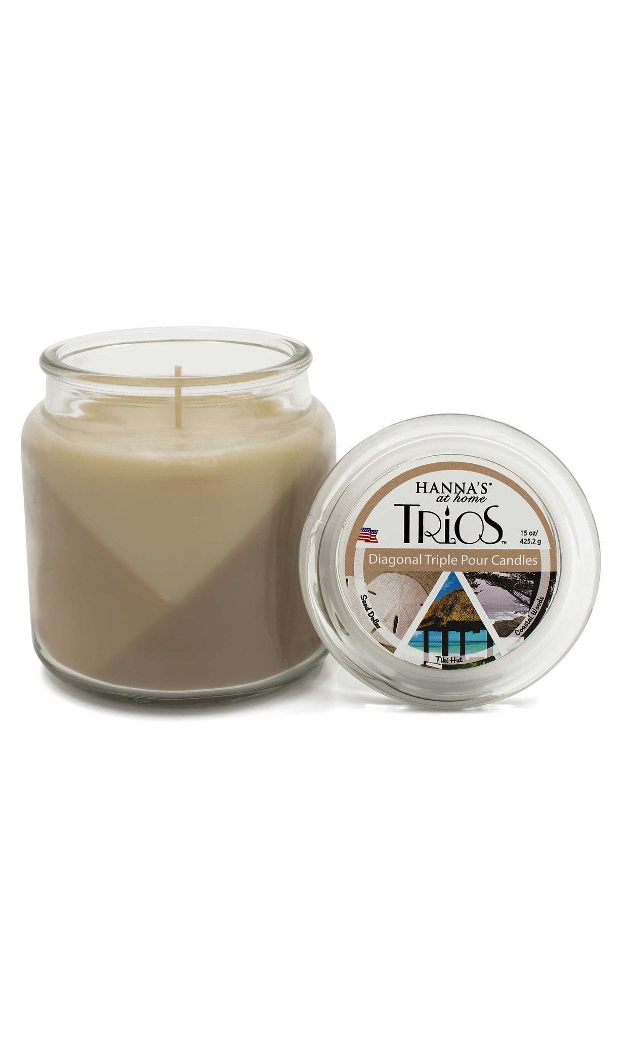 Trios Triple Pour Coastal Woods Scented Candle - Candlemart.com