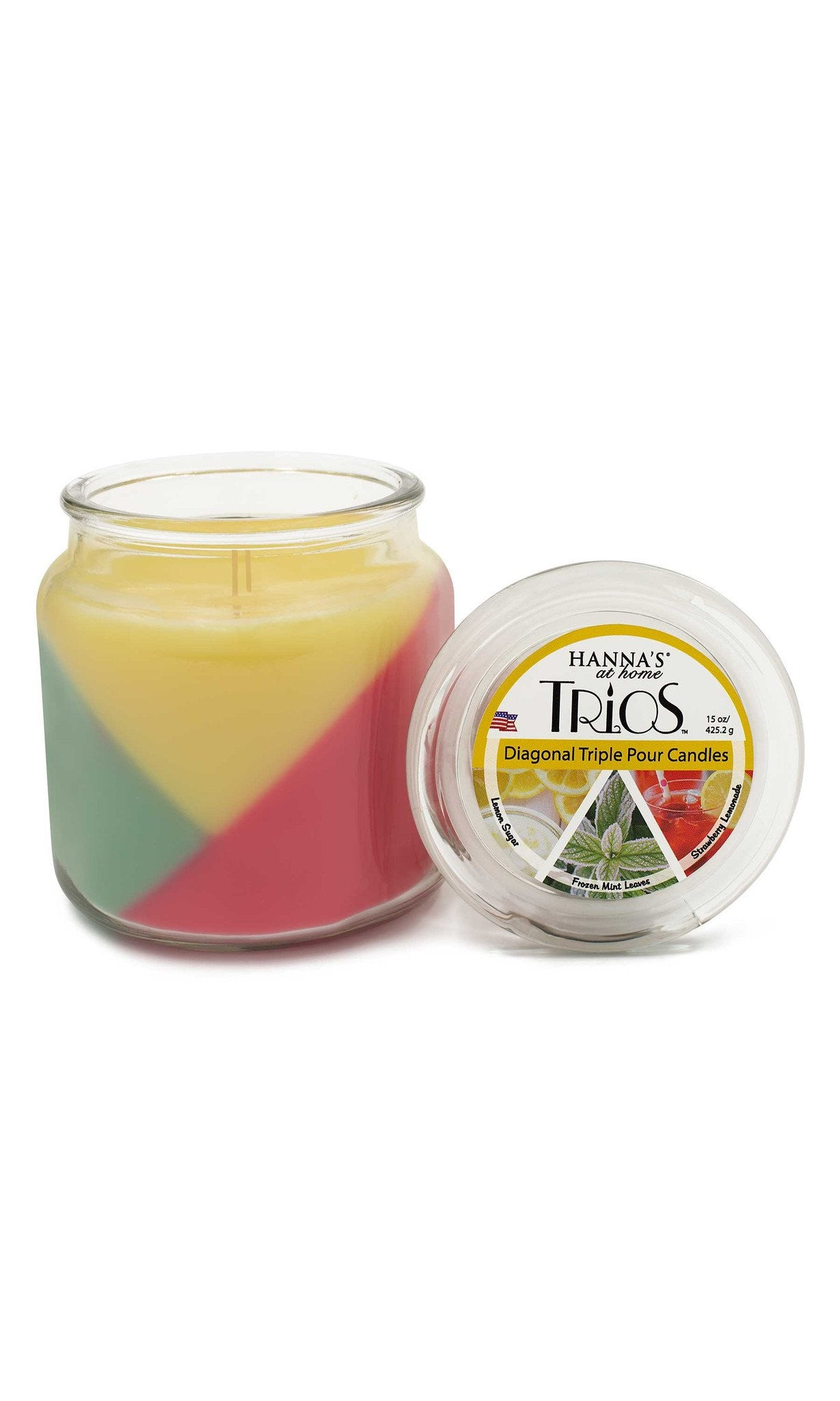 Trios Triple Pour Strawberry Lemonade Scented Candle - Candlemart.com - 3