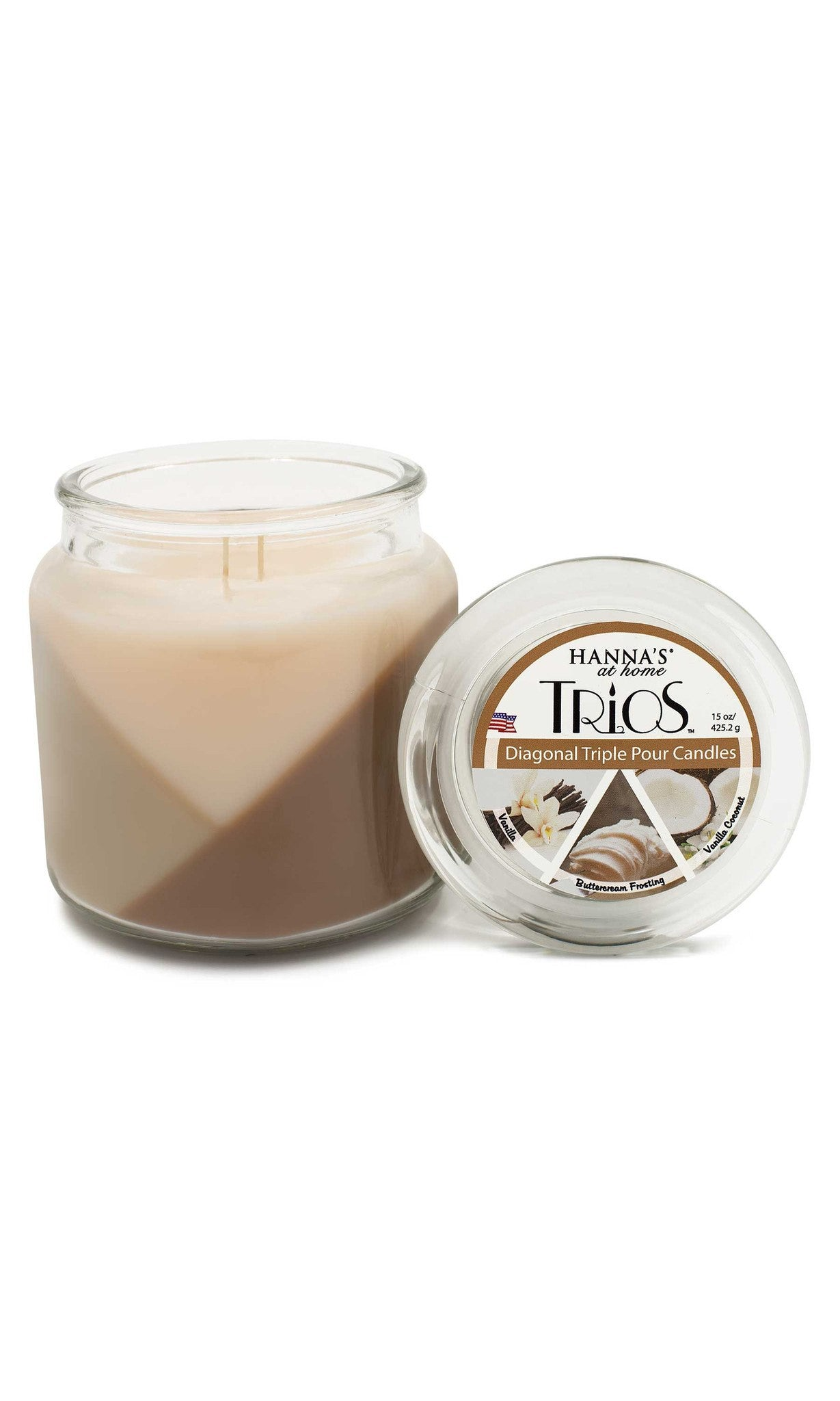 Trios Triple Pour Vanilla Scented Candle - Candlemart.com - 3