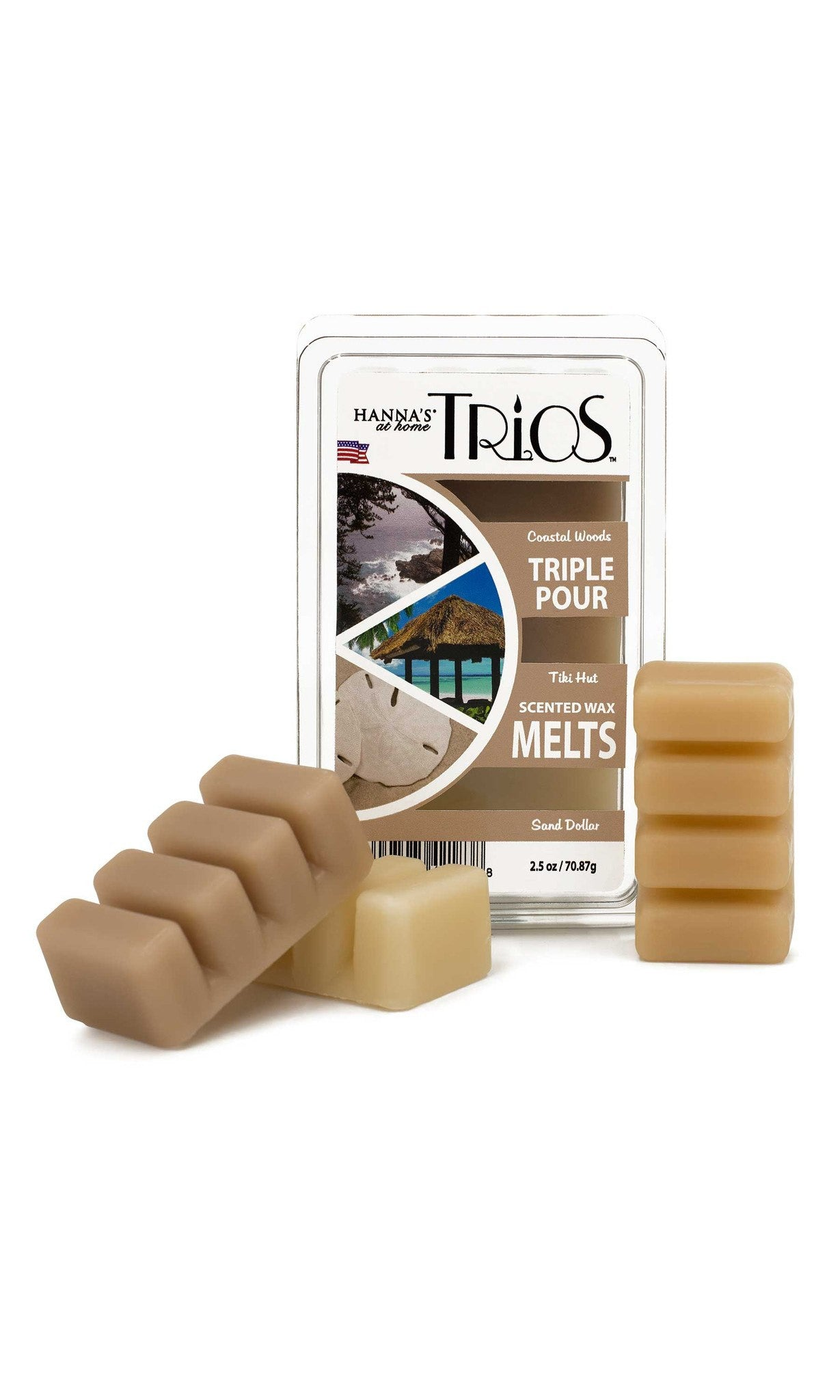 Trios Triple Pour Coastal Woods Scented Wax Melts - Candlemart.com - 1