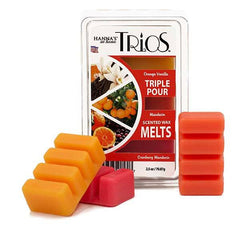 Trios Triple Pour Cranberry Mandarin Scented Wax Melts - Candlemart.com