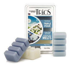 Trios Triple Pour Fresh Cotton Scented Wax Melts - Candlemart.com
