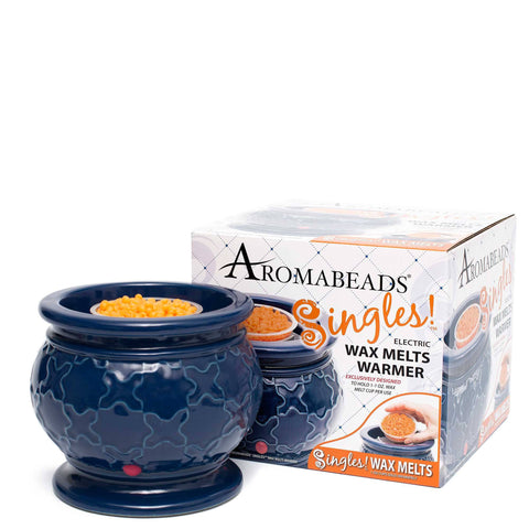 Aromabeads Singles Blue Electric Melt Warmer - Candlemart.com - 1