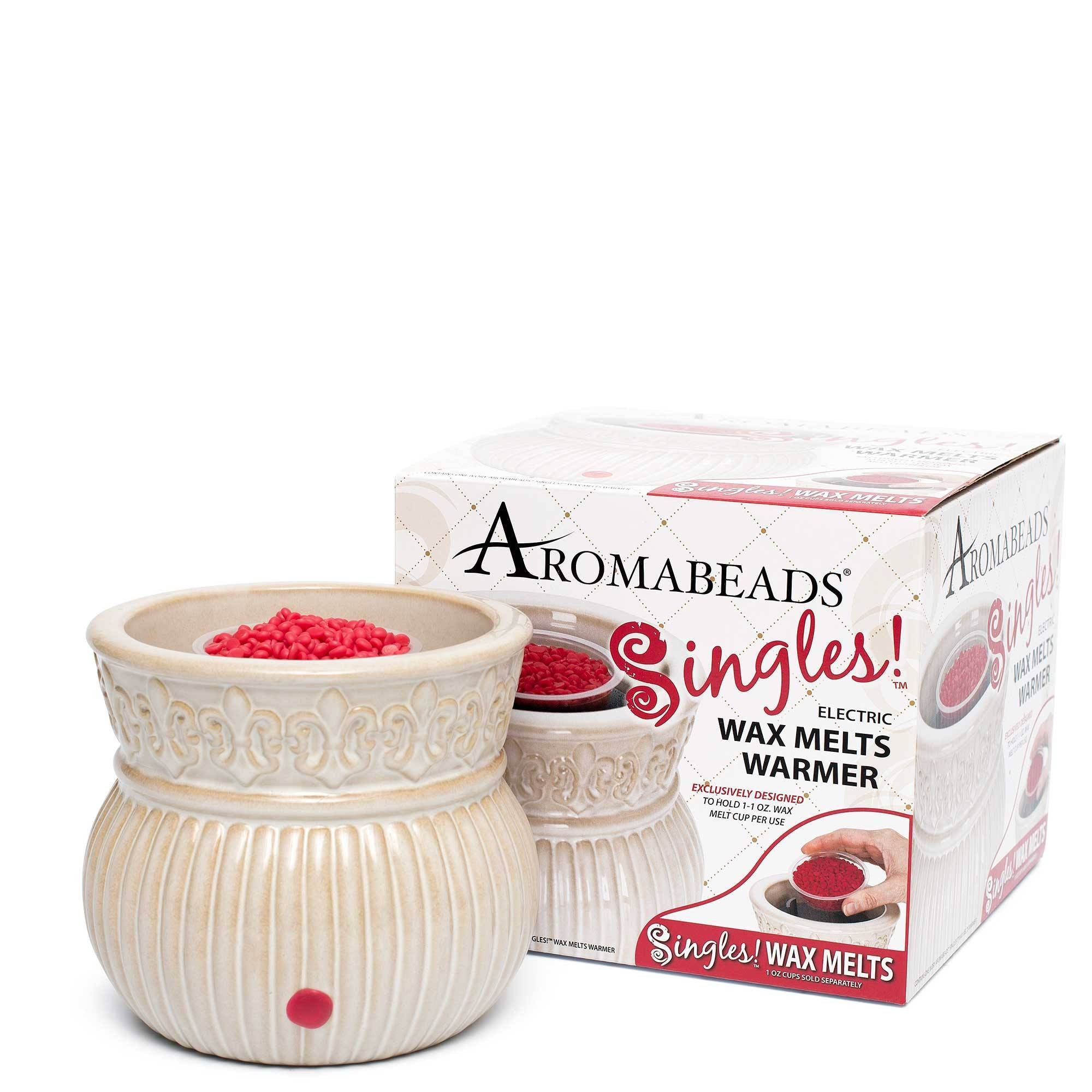 Aromabeads Singles Ivory Electric Melt Warmer - Candlemart.com - 1