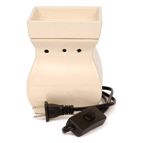 Ivory Ceramic Square Electric Melt Warmer Melt Warmer Candlemart.com $ 21.99