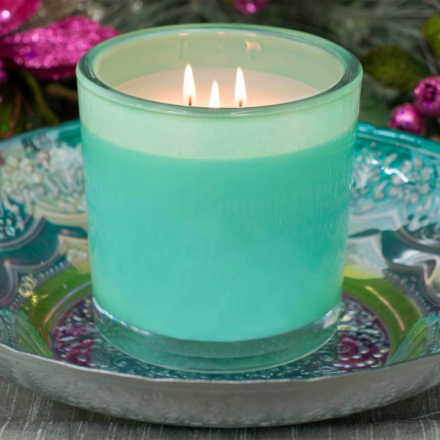 Midnight Jasmine Luxury 32oz Green Glass Candle