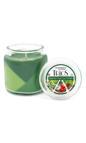 Holiday Trios Pine Scented Candle - Candlemart.com - 2