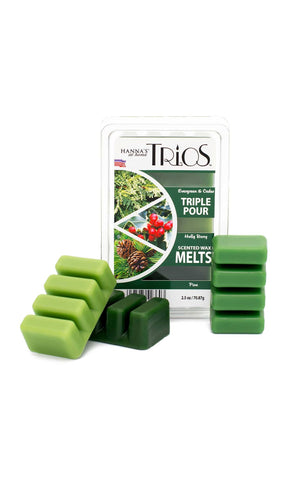 Holiday Trios Pine Scented Wax Melts - Candlemart.com - 1