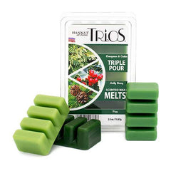 Holiday Trios Pine Scented Wax Melts - Candlemart.com