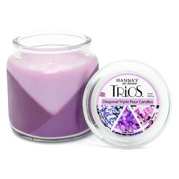 Spring Trios Triple Pour Lilac Breeze Scented Candle - Candlemart.com