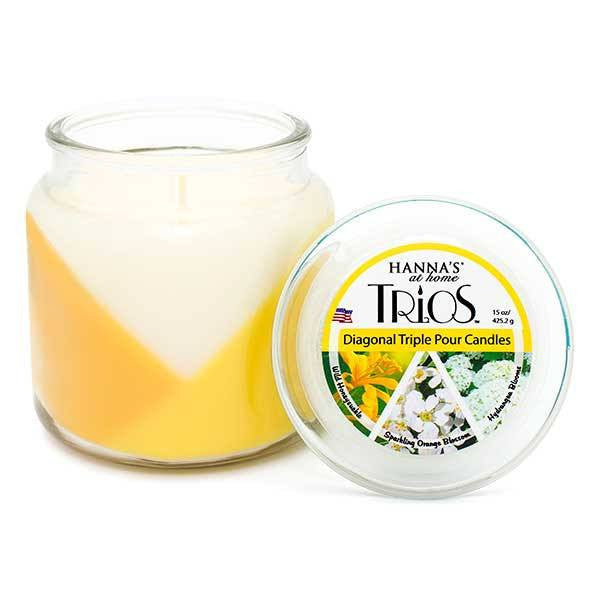 Spring Trios Triple Pour Wild Honeysuckle Scented Candle - Candlemart.com