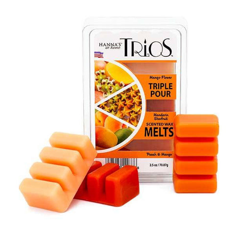 Spring Trios Triple Pour Peach & Mango Scented Wax Melts - Candlemart.com