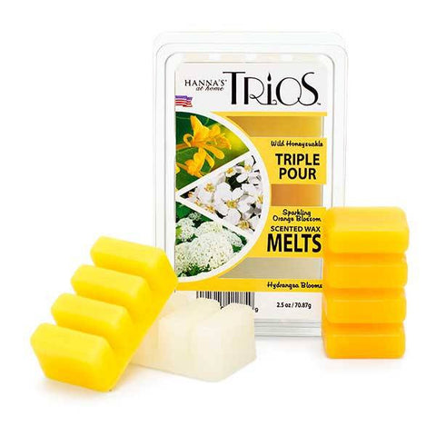 Spring Trios Triple Pour Wild Honeysuckle Scented Wax Melts - Candlemart.com
