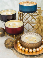 Gilded Prosecco Luxury 36oz Gold Glass Tumbler Candle - Candlemart.com