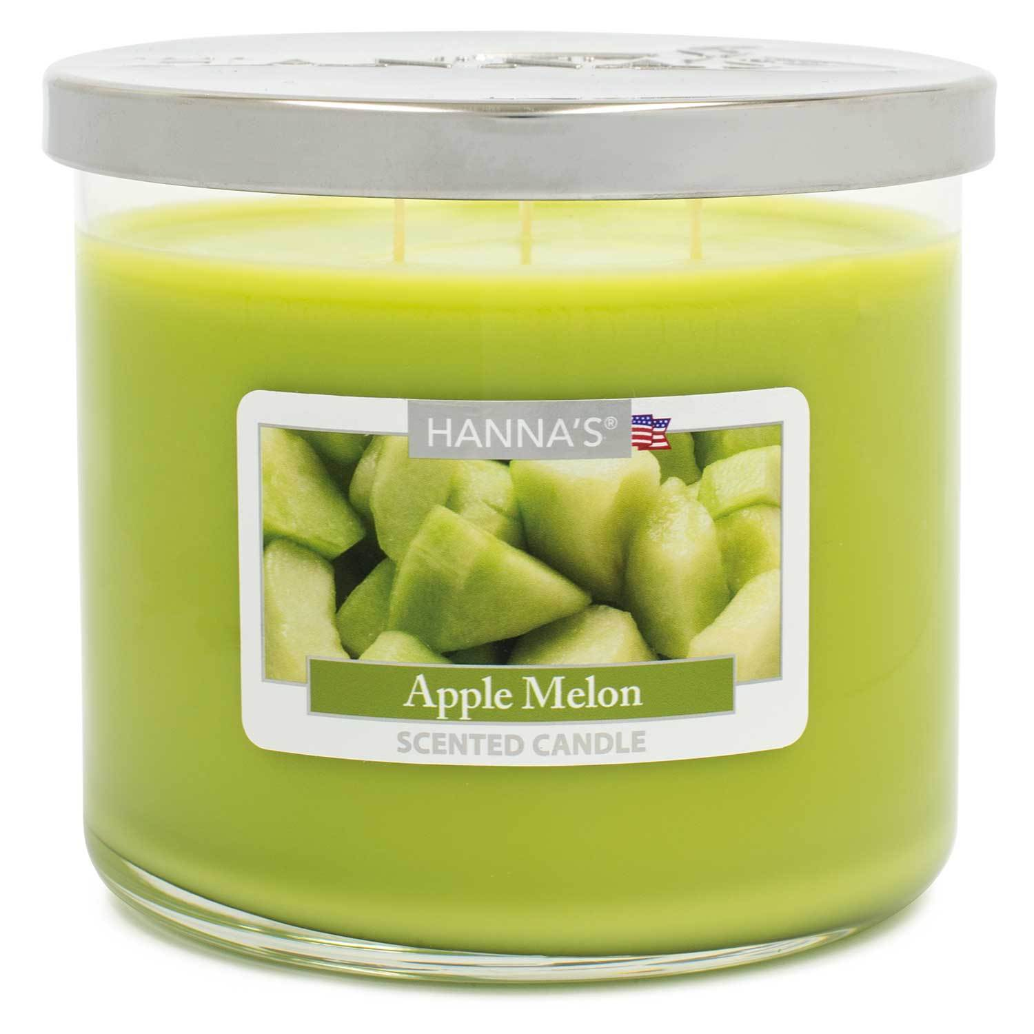 Apple Melon Scented Large 3 wick Candle