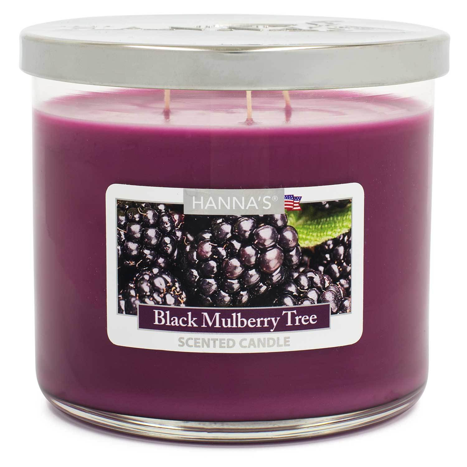 Black Mulberry Tree Scented Large 3 wick Candle - Candlemart.com