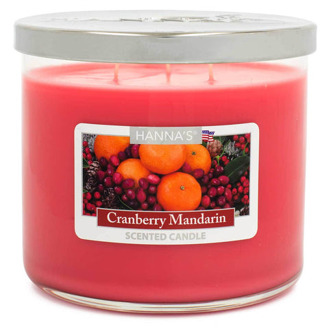 Cranberry Mandarin Scented Large 3 wick Candle Candles Candlemart.com $ 11.99