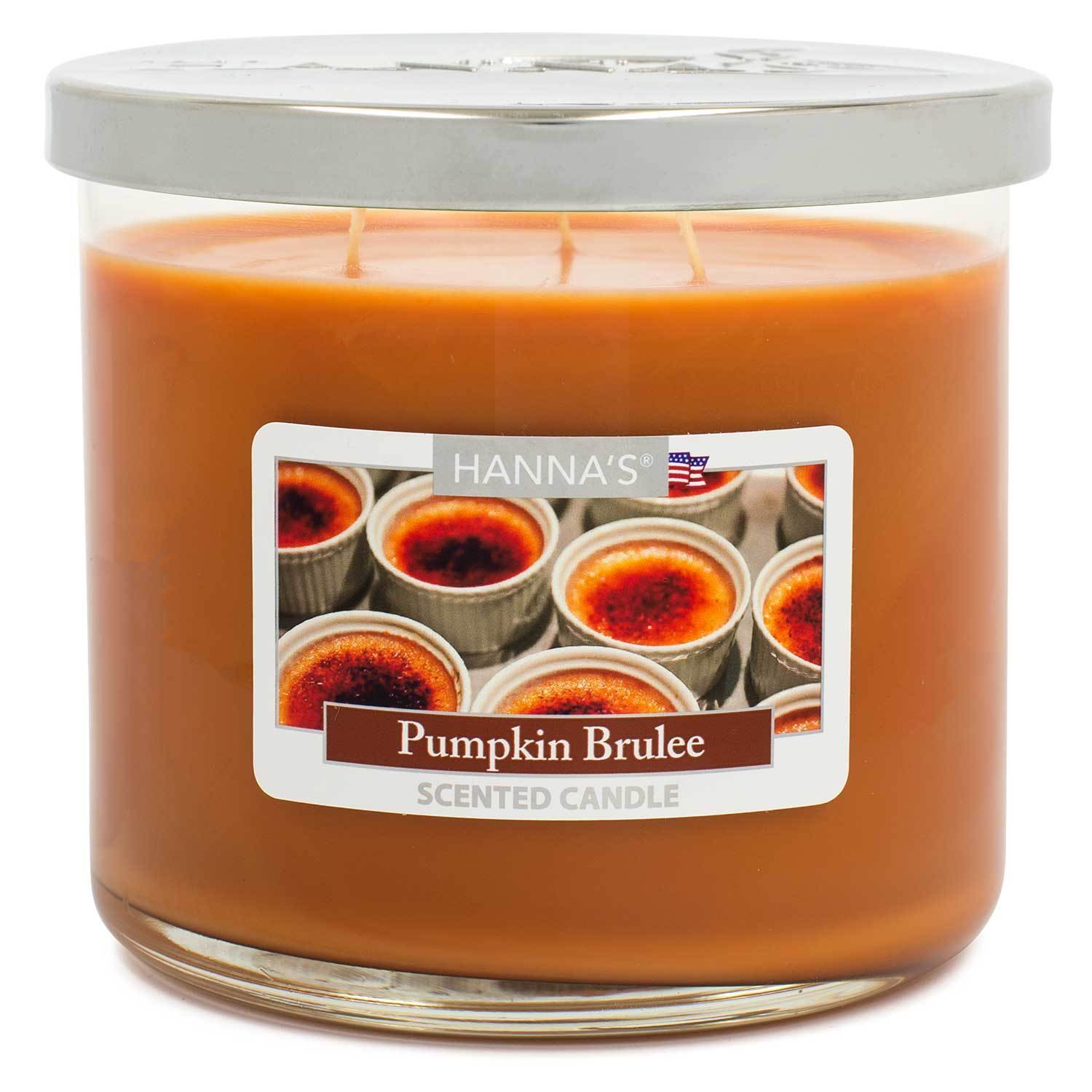 Pumpkin Brulee Scented Large 3 wick Candle Candles Candlemart.com $ 11.99