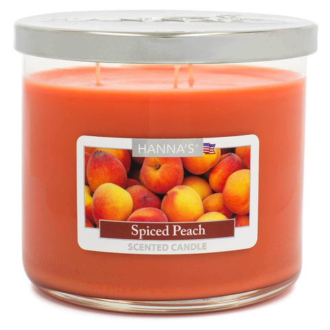 Spiced Peach Scented Large 3 wick Candle