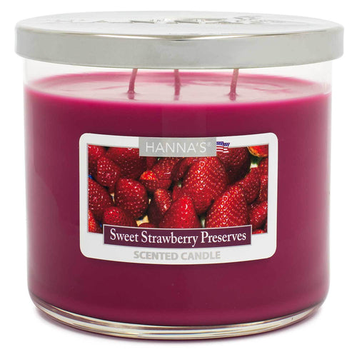 Sweet Strawberry Preserves Scented Large 3 wick Candle - Candlemart.com