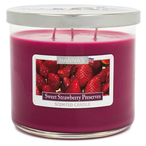 Sweet Strawberry Preserves Scented Large 3 wick Candle Candles Candlemart.com $ 11.99