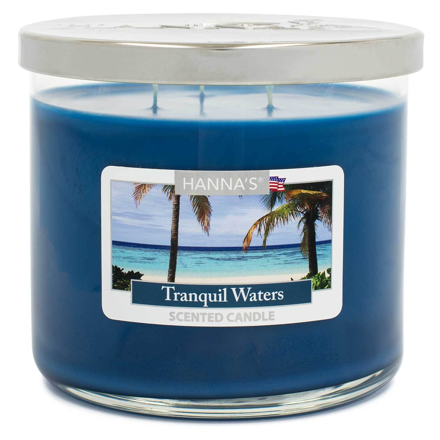 Tranquil Waters Scented Large 3 wick Candle - Candlemart.com