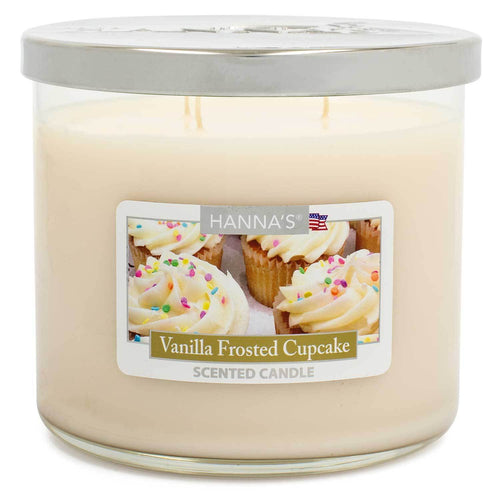 Vanilla Frosted Cupcake Scented Large 3 wick Candle - Candlemart.com