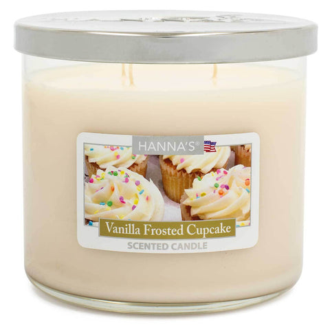 Vanilla Frosted Cupcake Scented Large 3 wick Candle Candles Candlemart.com $ 11.99