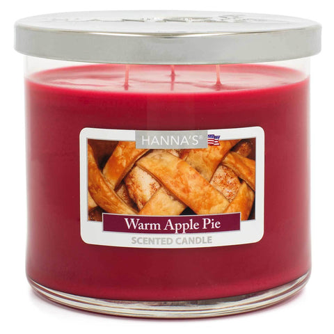 Warm Apple Pie Scented Large 3 wick Candle Candles Candlemart.com $ 11.99