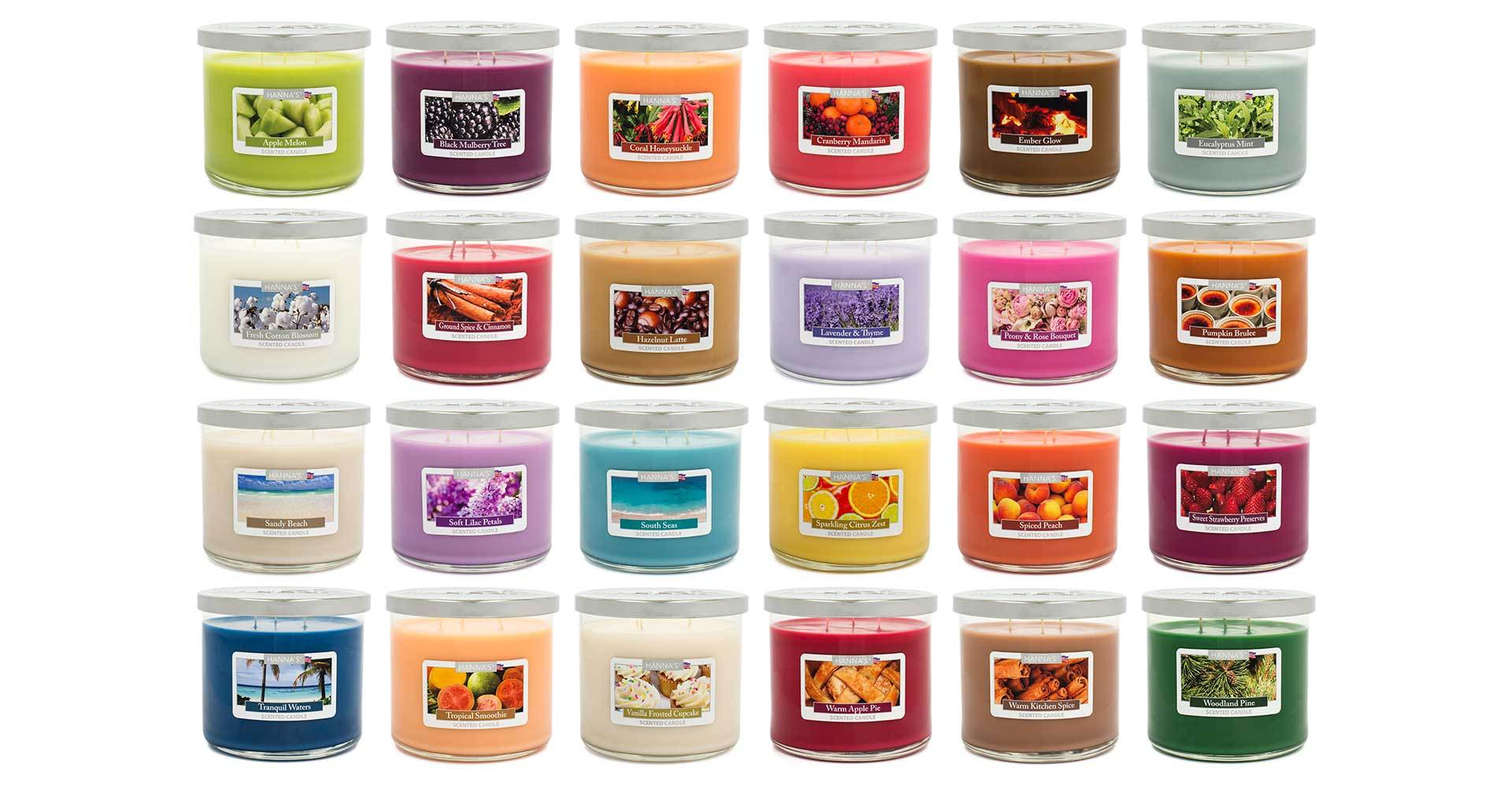 Sparkling Citrus Zest Scented Large 3 wick Candle - Candlemart.com