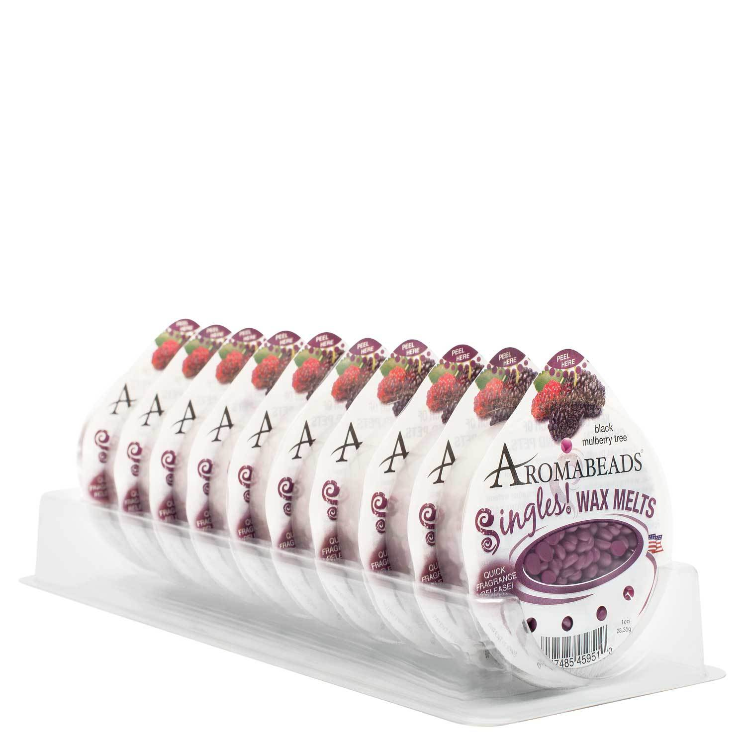 Aromabeads Singles Black Mulberry Tree Wax Melts 10 Pack