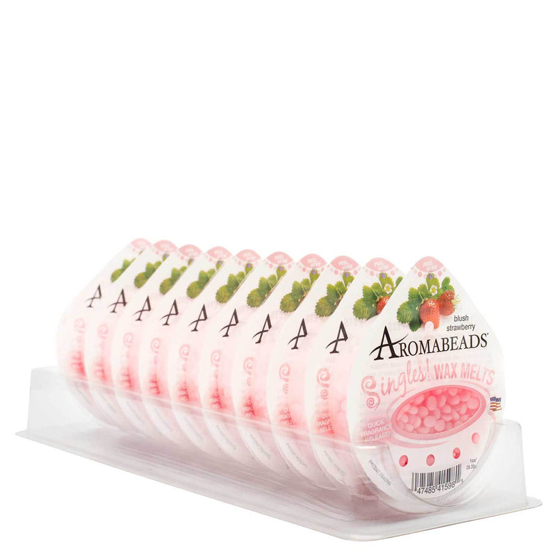 Aromabeads Singles Blush Strawberry Wax Melts 10 Pack - Candlemart.com