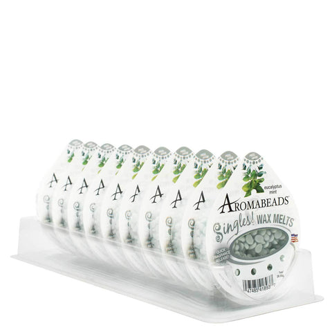 Aromabeads Singles Eucalyptus Mint Wax Melts 10 pack Melts Candlemart.com $ 11.49