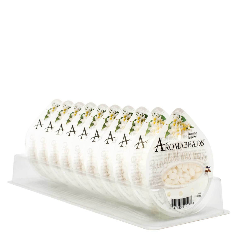 Aromabeads Singles Jasmine Breeze Wax Melts 10 Pack - Candlemart.com