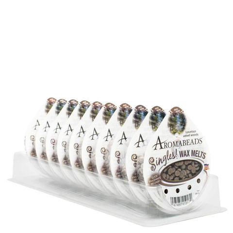 Aromabeads Singles Luxurious Velvet Woods Wax Melts 10 Pack - Candlemart.com