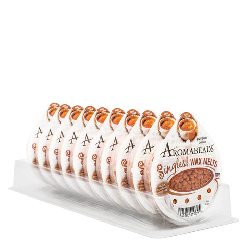 Aromabeads Singles Pumpkin Brulee Wax Melts 10 Pack Melts Candlemart.com $ 11.49