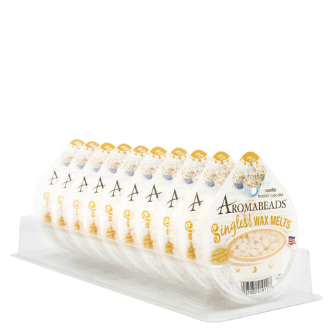 Aromabeads Singles Vanilla Frosted Cupcake Wax Melts 10 Pack - Candlemart.com